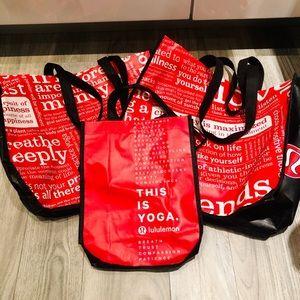 Lot of Three Lululemon Bags - 2 large 1 Small yoga